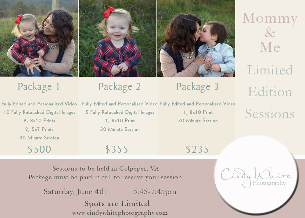 culpeper va mommy and me limited edition sessions