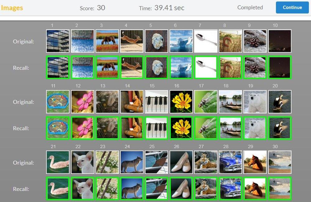 30 images de Memory League que j'ai mémorisé en 40 secondes juste pour vous. Mon record est de 35 secondes. Rapide? Oui mais moins que certains de mes amis en moins de 20 secondes, et moins que certains fous furieux qui font la même chose en seulement une dizaine de secondes…