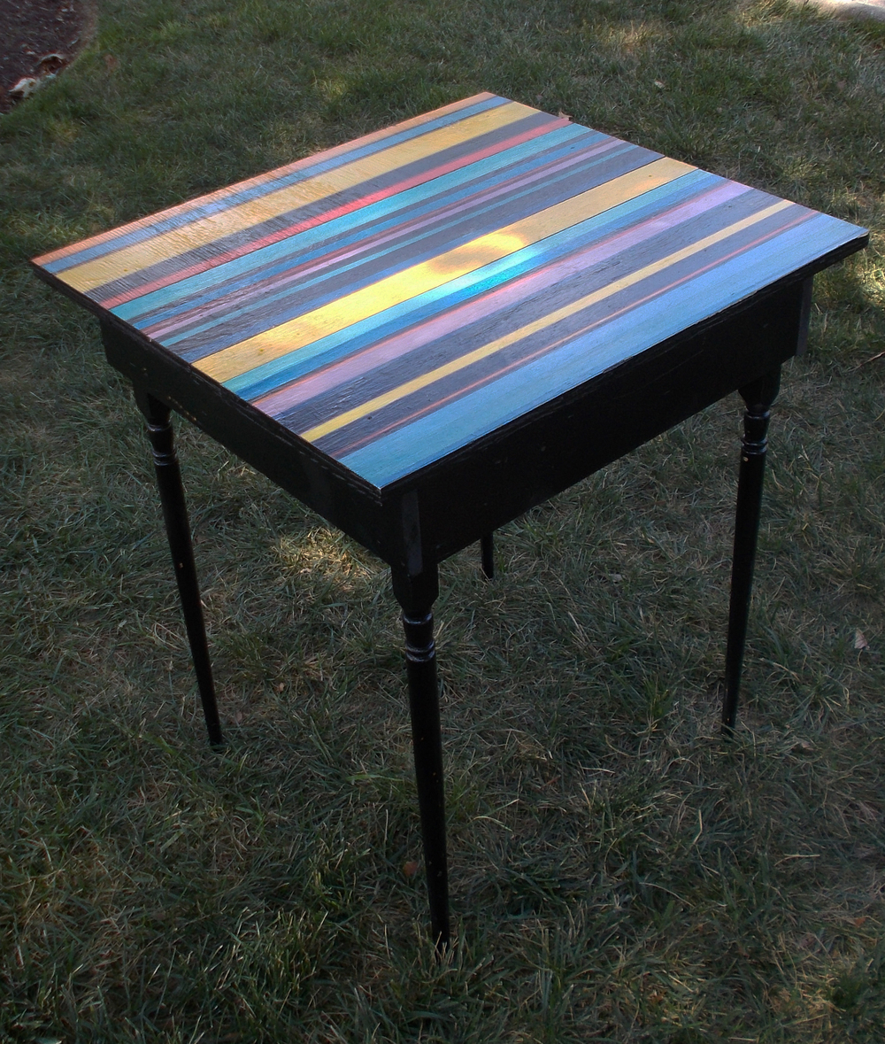 PAINTED TABLE, 29 INCHES HIGH