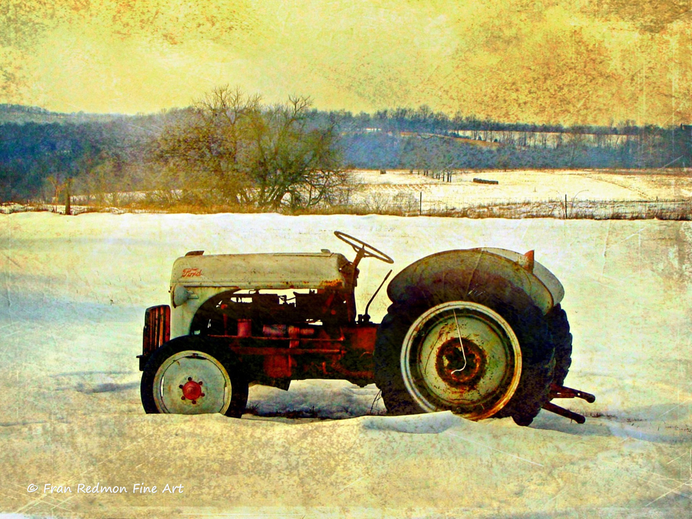 """MANIPULATED PHOTO BY FRAN REDMON  """"FROZEN FORD"""""""