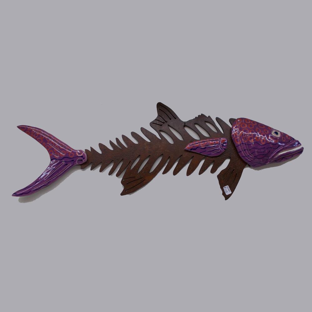"STEVE HEARTSILL ""FISH"" METAL AND CERAMIC"