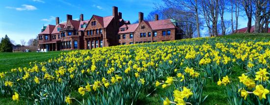 McAuley Hall at Salve Regina University during Newport Daffodil Days (from Cliff Walk). Photo Credit:  TripAdvisor