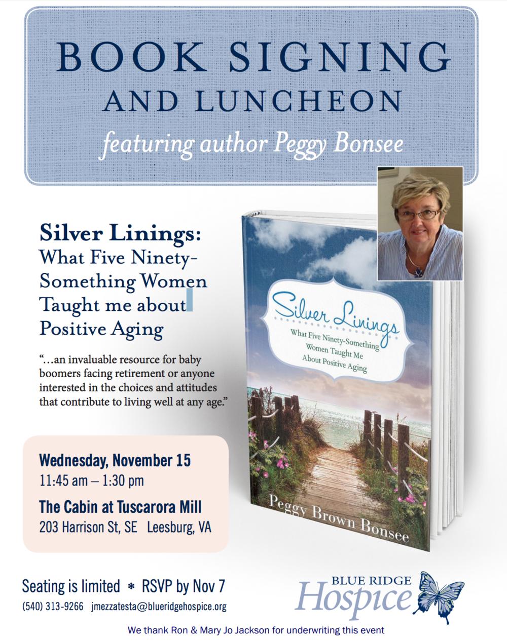 Silver Linings Book Signing Leesburg
