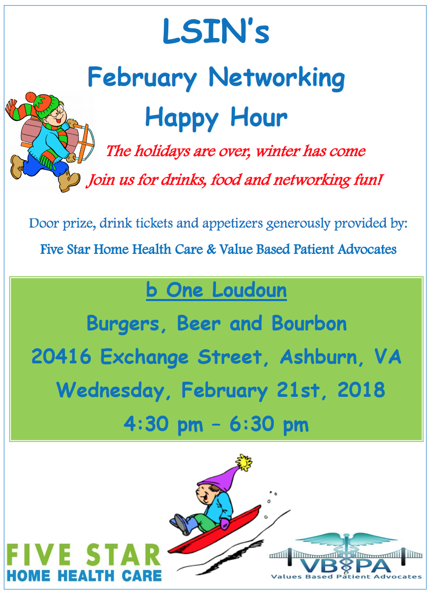 February Networking Happy Hour Flyer
