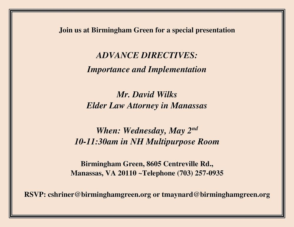 Advance Directives: Importance and Implementation