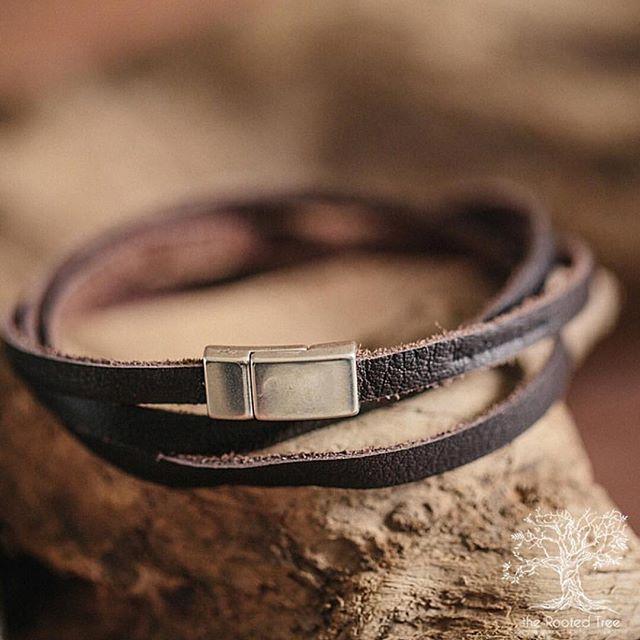 Double wrapped deertan lace bracelet. Magnetic clasp. Available via the shop. . http://www.therootedtree.net/shop . #Bedeeplyrooted #truth #intentionalliving #smallbusiness #groomsmengift #groomsgift #weddinggift #menswatch #guygift #woodwatch #woodglasses #leatherjournal #adventure #leathercuff #leatherbracelet #wanderlust #woodburnedart #socialgood #watchesofinstagram #uniquewatch #coolgift #hipster #minimalist #leathergoods #handcrafted #therootedtree #hipsterfashion #industrialpipe #beardman #beardsofinstagram