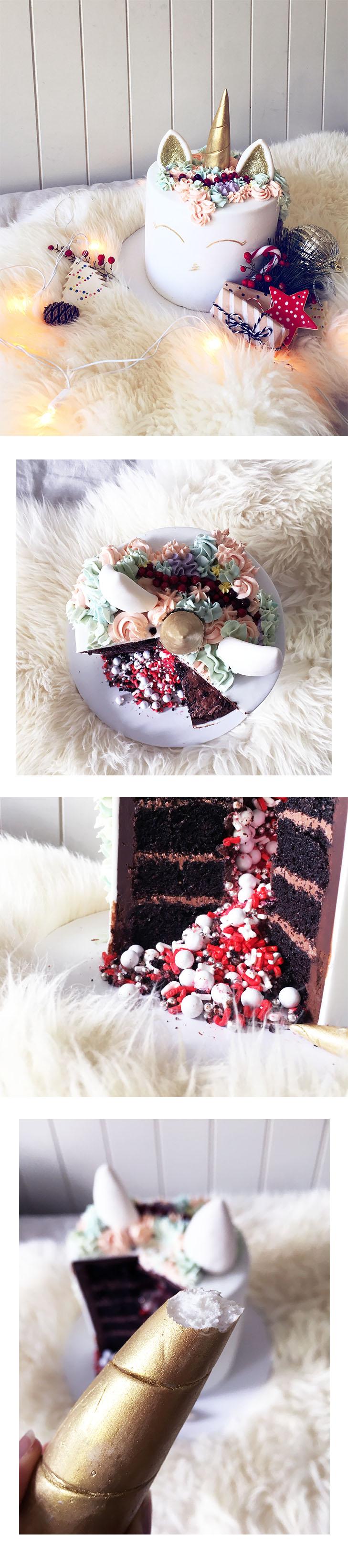 unicorn cake christmas by La Petite Pops x Hello Miss May