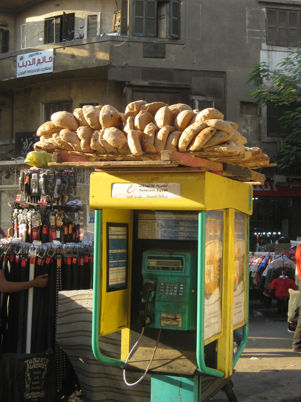 Fresh Egyptian Pita Bread Ob Telephone Booth_Street Food_Egypt_Hello-Miss-May