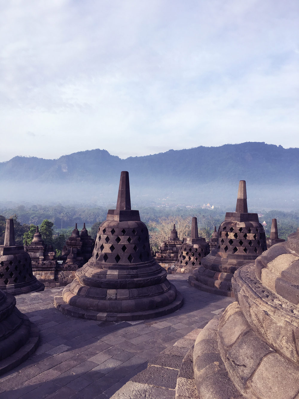 Borobodur during the day