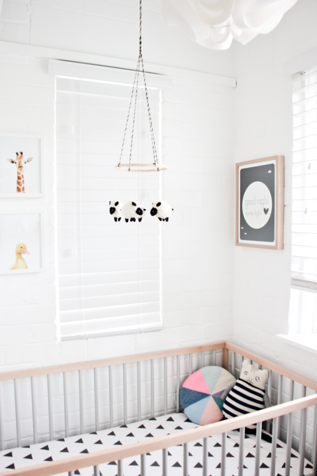 Featuring my 'Good Night, Sleep Tight' Poster. Nursery styled by Erin Michael.