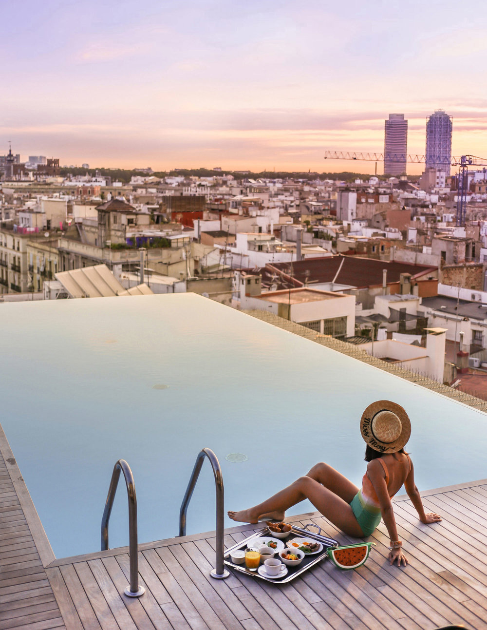 This stunning roof top pool is to be found at Grand Hotel Central.