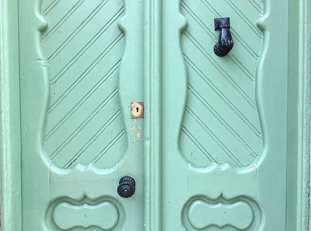 I love these Gaudi door knocks found in Barcelona homes.