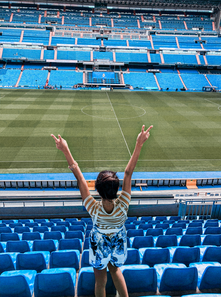 Happy days at Santiago Bernabéu Stadium. Photo by Leon Korobacz.