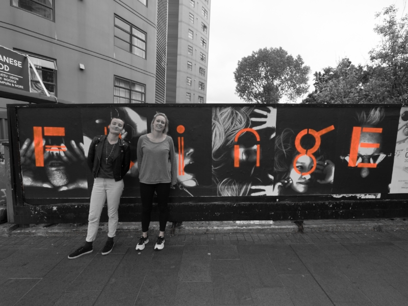 Auckland Fringe director Lydia Zanetti with alt designer Zoe Ikin Photo: Monster Valley