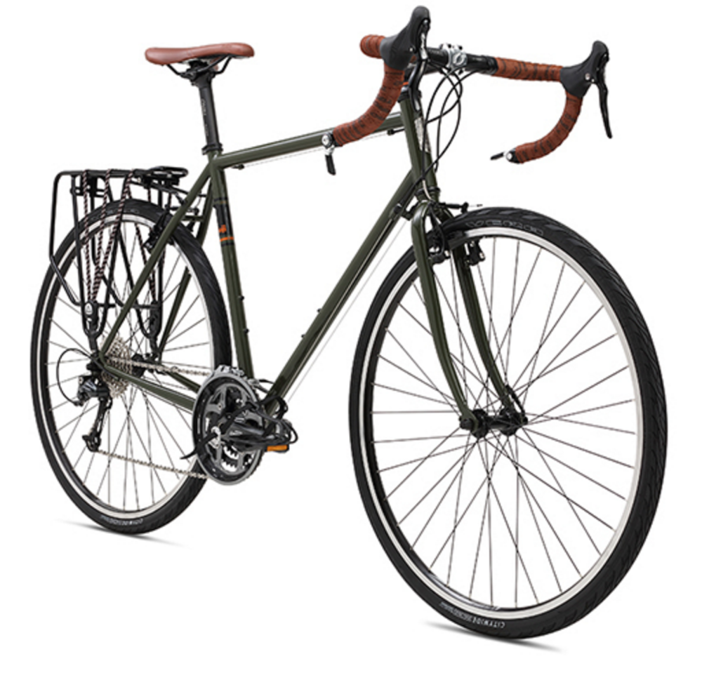 Fuji Touring - The Fuji Touring is the ideal touring bike, sturdy and reliable with a geometry designed for endurance. The only issue you will have is avoiding overloading the racks with too many cases of bourbon!