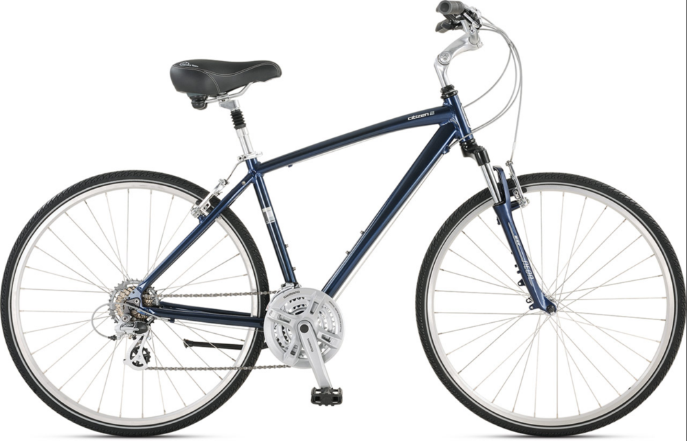 Jamis Citizen 2 - Our most comfortable model. With a plush seat and a drive train that is built to conquer hills, you are guaranteed a smooth ride on this hybrid frame from Jamis.