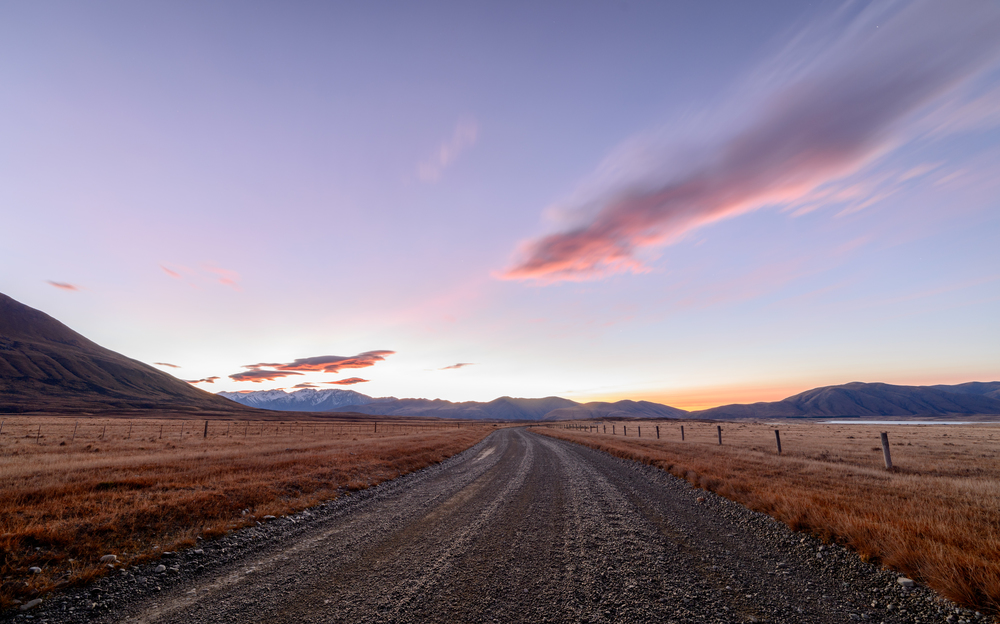 Heading for the dawn light Ashburton Lakes, South Island, New Zealand D800, ISO100, f8, 14mm, 30sec,
