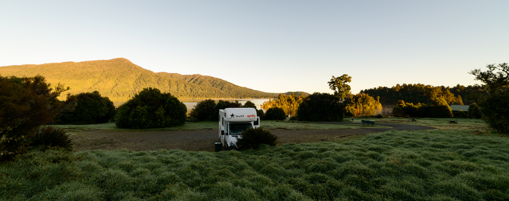 Camp site, Lake Kaniere