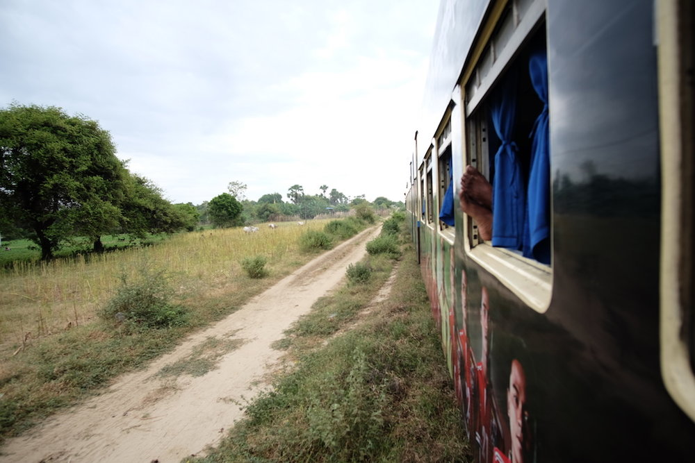 Train on the plains