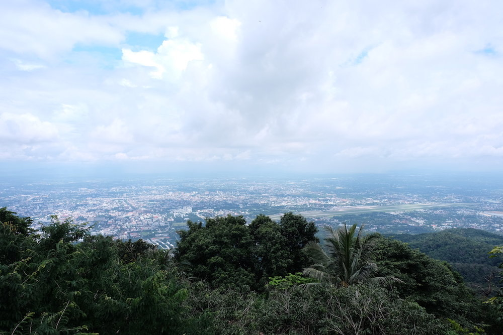 The view from Wat Phrathat Doi Suthep over Chiang Mai
