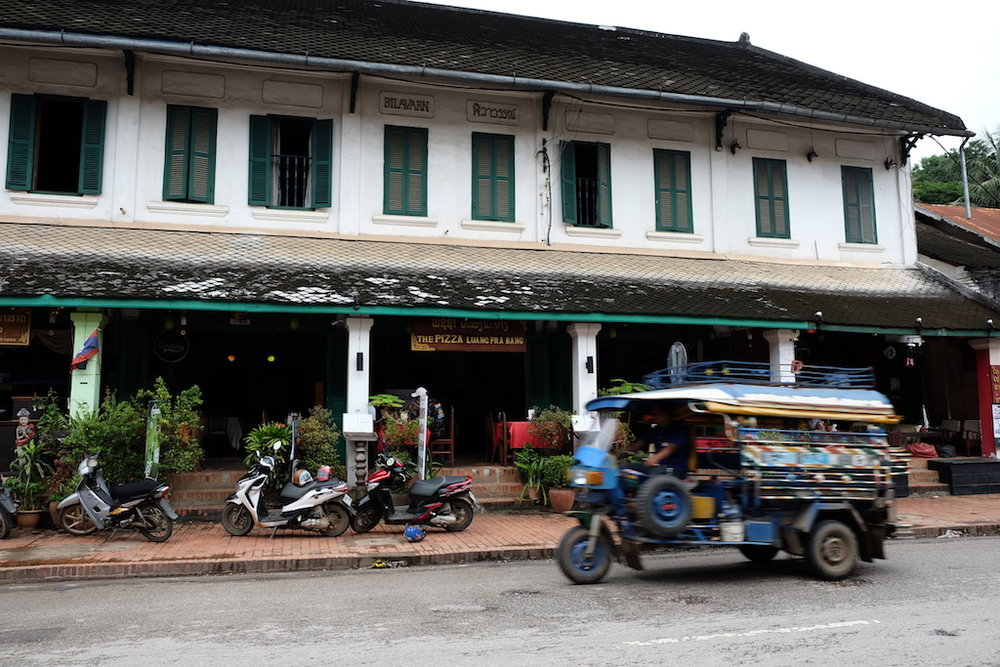 Luang Prabang town and a Laos tuk tuk