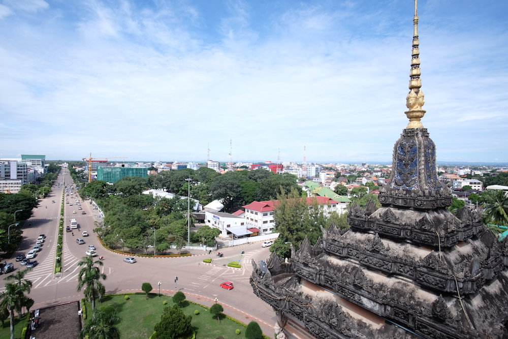 View from the top south over Vientiane