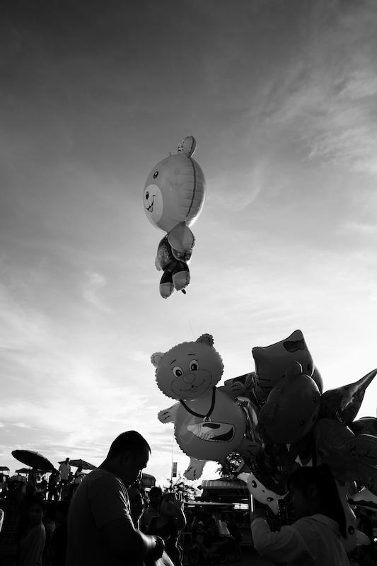 Night market balloons