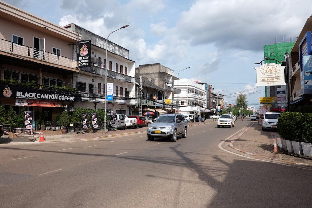 Main street, Vientiane