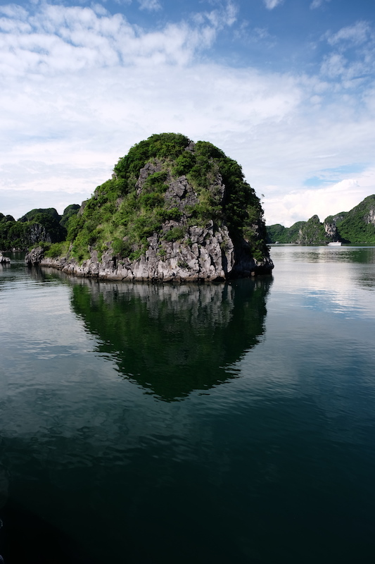 A floating karst island