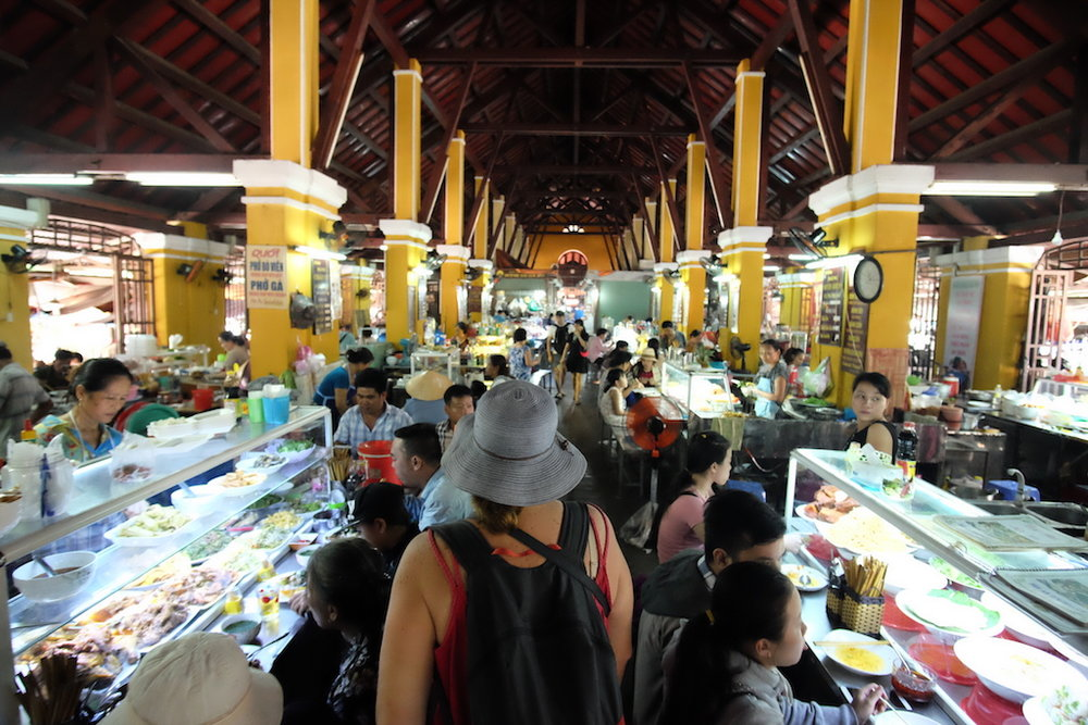 Lady in the Blue Hat goes to Market