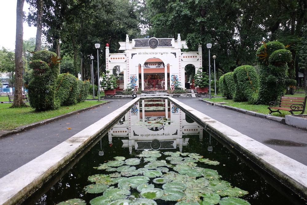 Temple in Di Tich Mo Co Ho Lam park