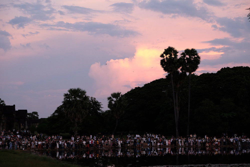 Day 2: Angkor Wat, crowds at the North Reflecting Pool
