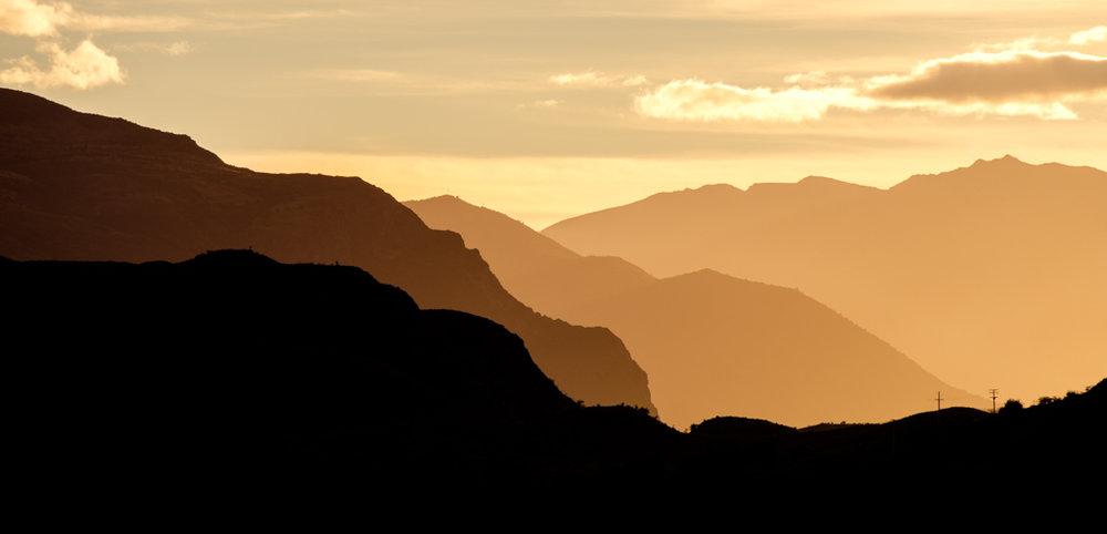 Layers of light, Glendhu Bay