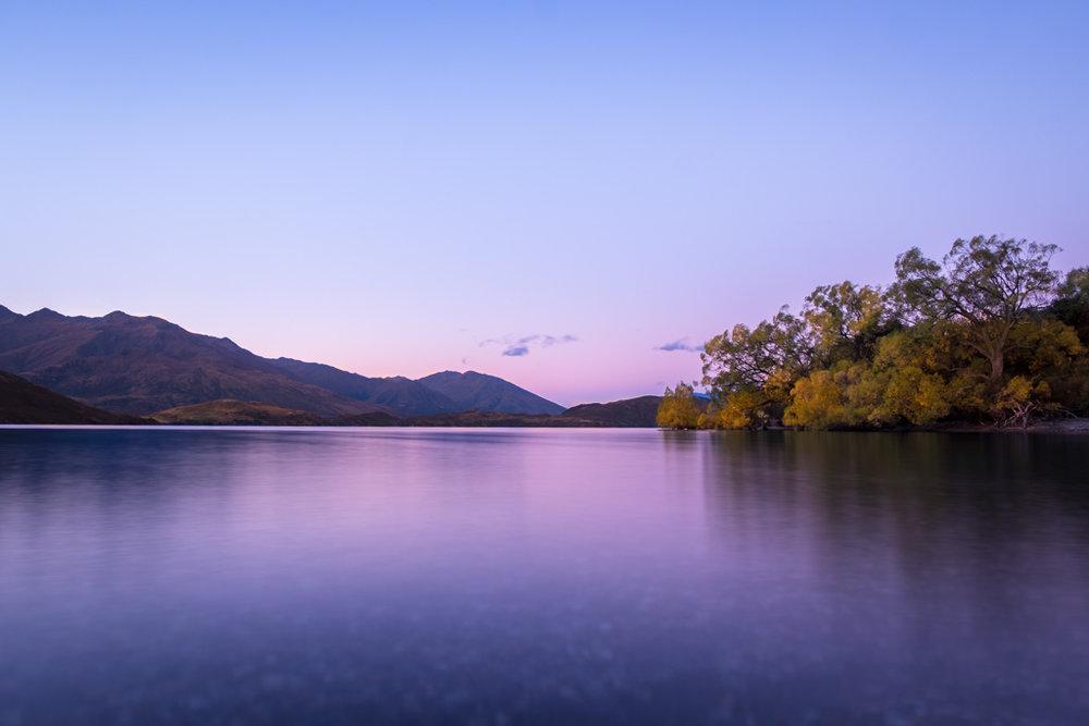 Sunset, Glendhu Bay
