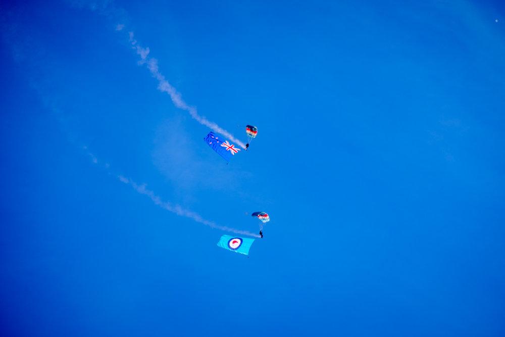 Kiwi Blue RNZAF Parachute team