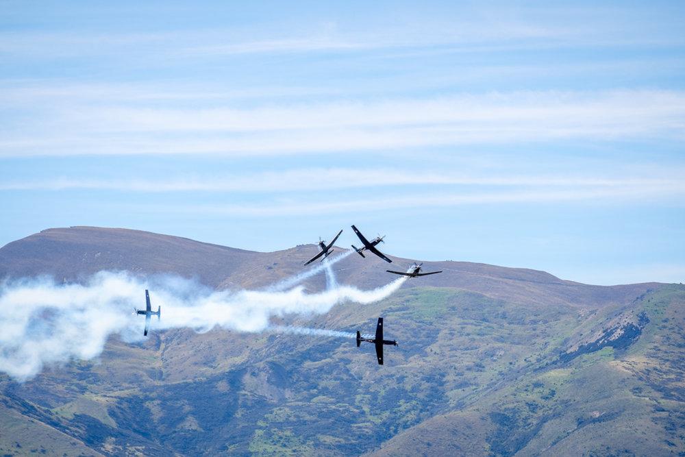 NZRAF Black Falcons aerobatic team