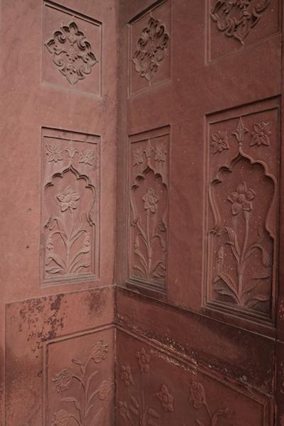 Sandstone carvings