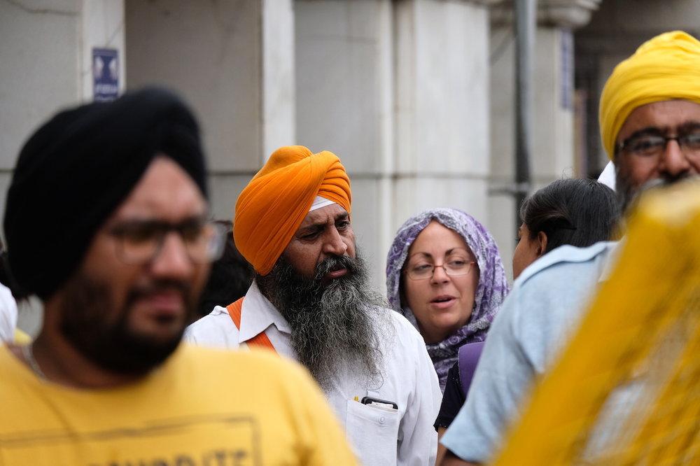 Sikh gathering, Old Delhi
