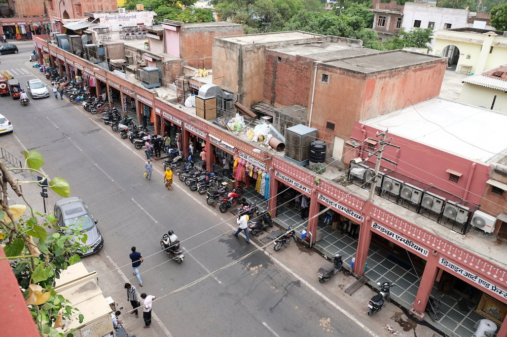 Nehru Bazaar from Hotel Sweet Dream, Jaipur