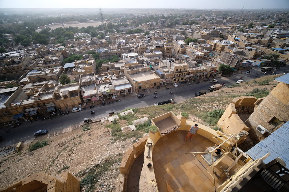 View over Jaisalmer from Desert Boys Guest House