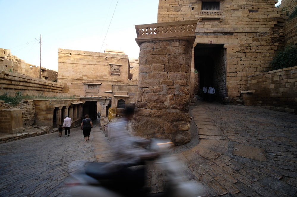 The road up, and down, Jaisalmer Fort