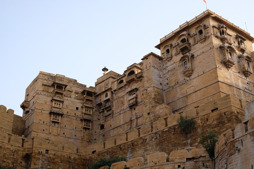 The Royal Palace from outside Jaisalmer Fort