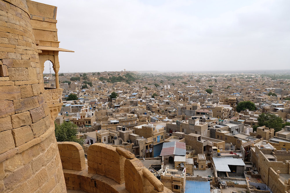 The ever-present view, Jaisalmer