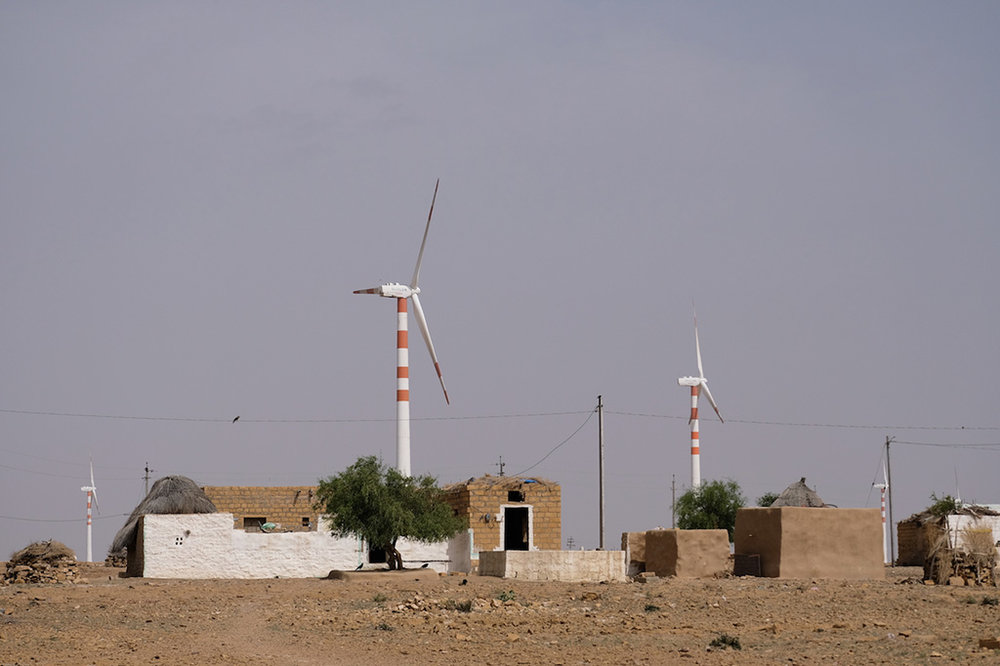 The ever watching wind turbines, Thar Desert