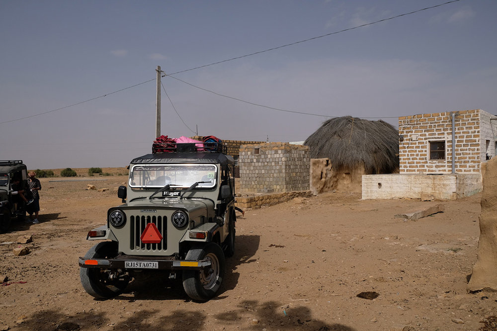 Our Jeep at Hamad's house, Thar Desert