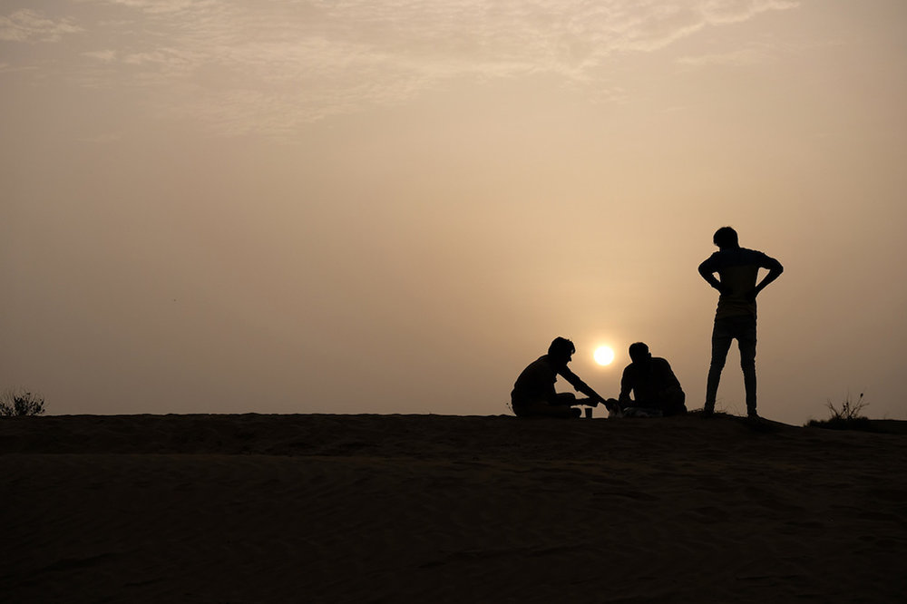 Sitting around the sun, Thar Desert