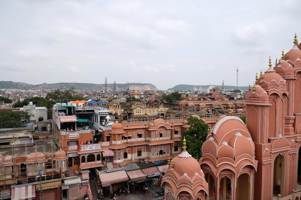 Looking east from the top of Hawa Mahal