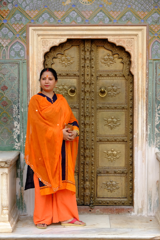 Local model, Pritam Chowk, City Palace ( Liz's Photo )