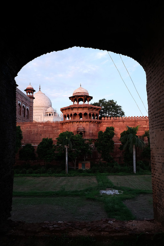 The old entry gate to the Taj Mahal complex