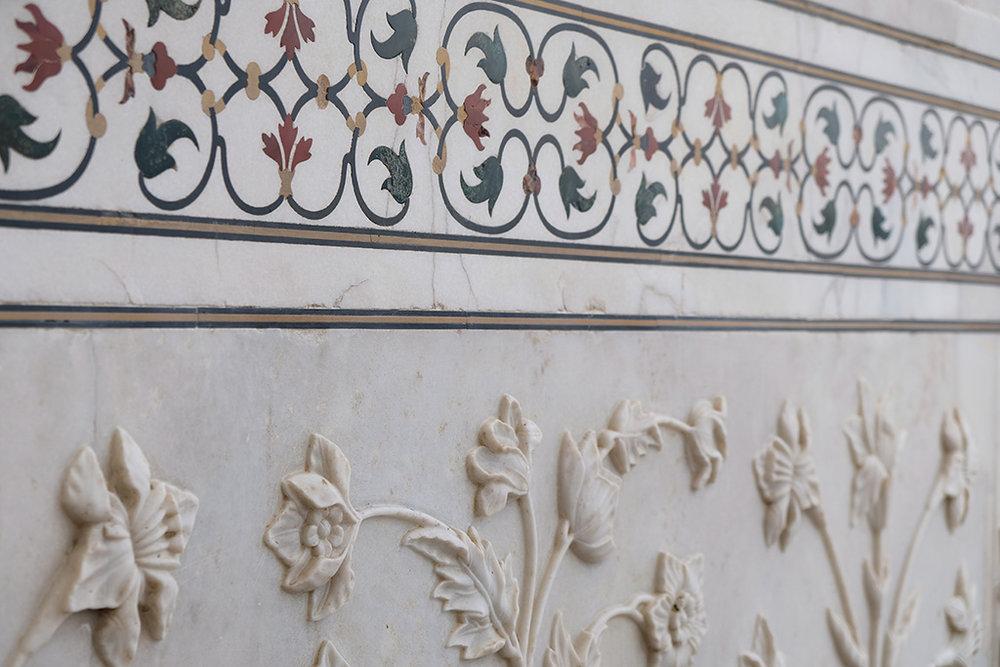 Amazingly detailed inlaid stone work
